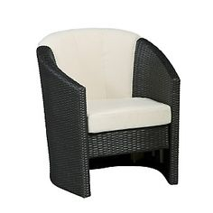 Riviera Outdoor Barrel Chair - Stone at HSN.com.