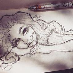 Relaxing drawing in my sketchbook