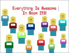 Everything is Awesome! Lego Bulletin Board printable set on TpT - LEGO