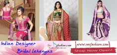 Indian Designer Bridal Lehengas - The highly best collection #Suits for the Bridal ceremonies, including fully embroidery #Bridal_Lehengas can be purchased from #Saifashion. All these are available in the most reasonable price. For more details and for information of other products visit our store or check out our online portal http://www.saifashion.com/lehenga-choli
