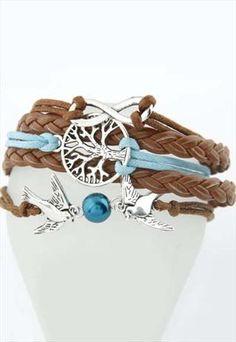 Retro leiothrix Tree of Life Bracelet