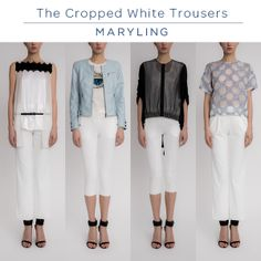 The cropped white trouser