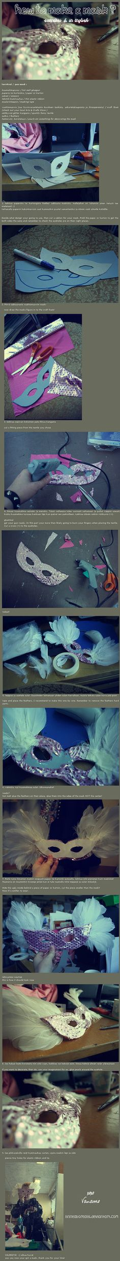 Tutorial: How To Make a Mask? by ~linneaborealis on deviantART