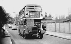 Lower Road Rotherhithe South East London England with Southwark Park on Left and China Hall Pub on Right in January 1966 London Bus, London Life, East London, Rt Bus, London History, Double Decker Bus, London Transport, Old Photographs, London England