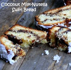 Coconut Milk Nutella Swirl Bread (so I know I just posted about making banana Nutella swirl bread... but, um, this? Yes please.)