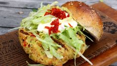 For a healthy and flavourful hamburger alternative, try this decadent chickpea burger packed with fresh greens and Italian spices.