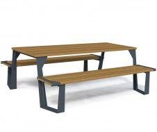 guyon table pique nique bois metal legna mobilier urbain / guyon legna timber metal picnic table street furniture