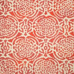 Pomegranate: Block Printed Fabric from Galbraith and Paul