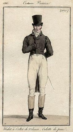 Regency Fashion Plate. Costume Parisien 1816
