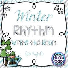 Quick review of six eight rhythms with a cute winter theme!  My students love write the room activities! 10 cards for students to find. Color or Black/White.