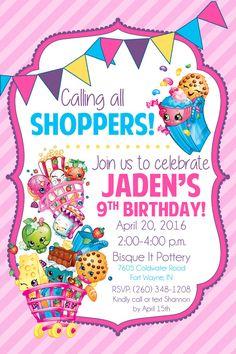 Shopkins Birthday Party Invitation By LifeOnPurpose On Etsy Fete Bday