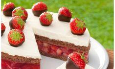 Gefüllte Erdbeertorte Rezept | Dr. Oetker Strawberry Cake Recipes, Strawberry Filling, Strawberry Jelly, Pastry Recipes, Baking Recipes, Pie Recipes, Torte Au Chocolat, No Bake Desserts, Dessert Recipes