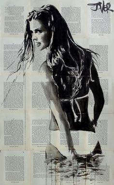 "Saatchi Art Artist Loui Jover; Drawing, ""blaze"" # Art... More"