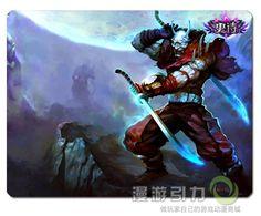 league of legends lol blood moon shen mouse pad