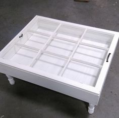 Beautiful 9 Pane Shadow Box Coffee Table!! Great For All Your Collectibles!  Show