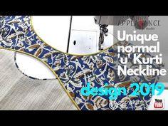 Kurti Neckline Creative Unique normal'u'Kurti Neckline design 2019 - YouTube Neck Designs For Suits, Neckline Designs, Dress Neck Designs, Kurti Neck Designs, Kurti Designs Party Wear, Latest Dress Patterns, Neck Patterns For Kurtis, Blouse Neck Patterns, Patch Work Blouse Designs