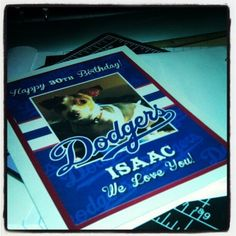 Custom Designed Dodgers Greeting Card