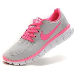 Womens Nike Free 5.0 V4 Grey Pink Running Shoes