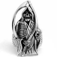 Stainless Steel Casted Grim Reaper Biker Ring Size 12 http://bikeraa.com/stainless-steel-casted-grim-reaper-biker-ring-size-12/