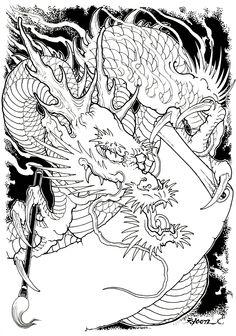 DRAWINGS | ChungWoon ART | TATTOO & ART #tattoo #oriental #dragon #jdtattoo #청운 Japanese Tatoo, Japanese Dragon, Chinese Dragon, Japanese Art, Dragon King, Dragon Art, Dragon Classes, Gothic Tattoo, Japan Tattoo
