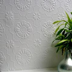 Alexander Paintable Supaglypta Wallpaper design by Brewster Home Fashions