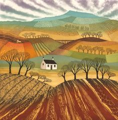 Buy Plough the Fields (mounted), Etching / Engraving by Rebecca Vincent on Artfinder. Discover thousands of other original paintings, prints, sculptures and photography from independent artists. Landscape Art Quilts, Abstract Landscape, Yorkshire Dales, Paintings For Sale, Original Paintings, Lovers Art, Countryside, Fields, Fine Art