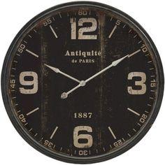 IMAX Robertson Black 38.5 in. Wall Clock - Wall Clocks at Hayneedle