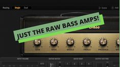 Bias FX2 Professional - Just the Bass Amps! Minimal Talking! Bass Amps, Music Production, Minimalism