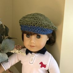 Handmade Crochet Beanie Beret Hat for 18 American by CreoCrochet