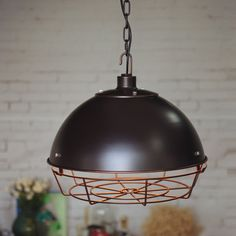 Heavy Steel Ceiling Lamp pendant lamp edison by LightwithShade