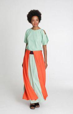 Power Maxi Skirt Tricolour