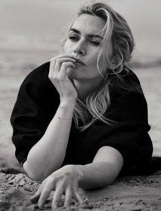 Kate Winslet, photographed by Peter Lindbergh for L'uomo Vogue, Nov 2015.