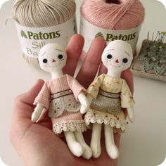 Gingermelon Dolls: Eleanor and Prudence