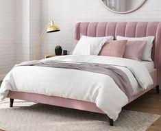 Κρεβάτι διπλό Φαίδρα 1.60x200 | Hugmaison Bed Frame, Bedroom Ideas, Furniture, Home Decor, Decorating Rooms, Bed Base, Decoration Home, Room Decor, Home Furnishings