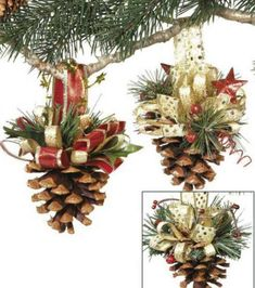 Decorate your Christmas tree beautifully with the Makers Holiday Pack of 8 Pinecone Ornaments-Gold. These Christmas ornaments are crafted in the shape of pine cones to match your seasonal decor settin Pinecone Ornaments, Diy Christmas Ornaments, Christmas Projects, Holiday Crafts, Holiday Fun, Pine Cone Christmas Decorations, Holiday Pack, Christmas Ideas, Decorating Ornaments