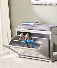 Loving this Mirrored Shoe Bench on #zulily! #zulilyfinds {pinned by http://eco-babyz.com}