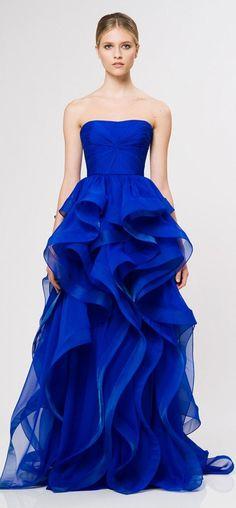 Royal blue wavy dress