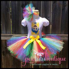Joy Inside Out Birthday Tutu set any size by PetitTutuBoutique