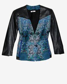 Helmut Lang EXCLUSIVE Leather Brocade Jacket