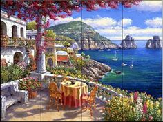 Tuscan Scene Wall Tiles | ... wall tile mural waterview tile murals are great as part of your