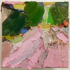 "'Rilke's Tree"" oil on canvas .6"" x 6"". 2016. Brigid Watson represented by http://www.hidellbrooks.com/"