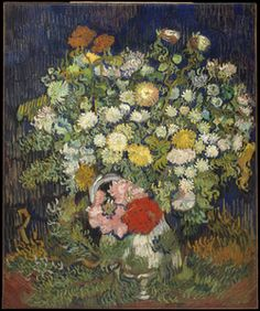 Vincent van Gogh: Bouquet of Flowers in a Vase.  Oil on canvas.  1889-90. New York:  The Metropolitan Museum of Art, The Walter H. and Leonore Annenberg Collection, Gift of Walter H. and Leonore Annenberg, 1993.  Beequest of Walter H. Annenberg, 2002.