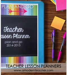 Plan and Go Teacher Lesson Planners www.amodernteacher.com $
