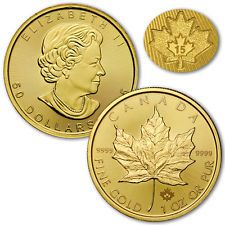 2015 Canada 1 Troy Oz .9999 Fine Gold Maple Leaf $50 Coin SKU33758 | goldankauf-haeger.de Maple Leaf Gold, Gifts For Women, Gifts For Her, Gold And Silver Coins, Troy, Precious Metals, Anniversary Gifts, Personalized Gifts, Canada