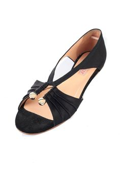 Open Leather Ballerinas- 0o.. that's different, i like.