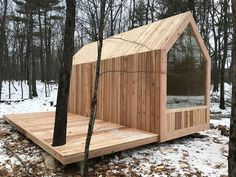Tiny House Movement and Why it's so Popular - Rustic Design Tiny Cabins, Tiny House Cabin, Cabins And Cottages, Tiny House Living, Tiny House Design, Modern Cabins, Small Cabin Designs, Eco Cabin, Hut House