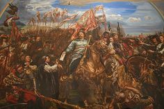 Victory of John III Sobieski King of Poland against the Turks at the Battle of Vienna, Jan Matejko Battle Of Vienna, Monuments, San Bernardo, Fiction, Classic Paintings, Ottoman Empire, Cristiano, Virgin Mary, Rpg
