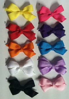 Simple baby hair bows!