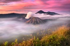 Clouds Over Bromo Volcano, Indonesia By Anuchit Kamsongmueang