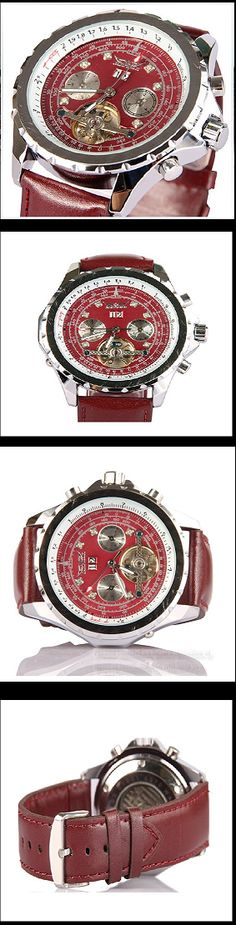Stan Vintage Watches | Men's the tourbillon calendar automatic leather mechanical watch (WAT0045)